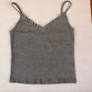 Topshop Ruffle Ribbed Camisole - Size 10